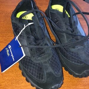 Champion Running Shoes Black Octo Soles Brand New